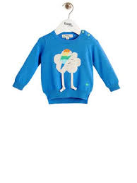 cloud sweater zappa unisex baby flash cloud sweater blue crab and the fox