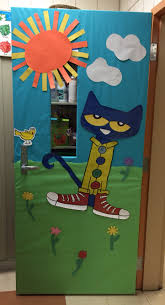 pete the cat classroom door decoration teaching pinterest