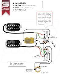 pleasing 2 humbuckers 1 volume 1 tone and 2 mini switch wiring