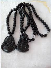 black jade necklace images Wholesale natural light black jade buddha gan yin pendant jadeite jpg