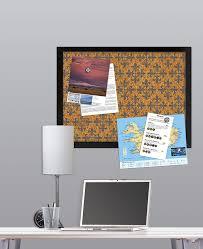 veranda printed cork board decorative cork boards amazon com