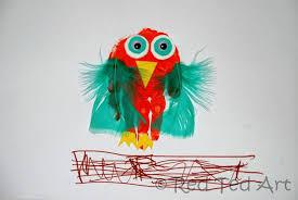 handprint alphabet o for owl red ted art u0027s blog