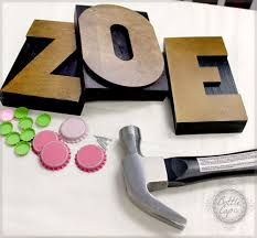 retro craft large wood letter press block name and letter decor diy