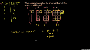 sequences word problem growth pattern video khan academy