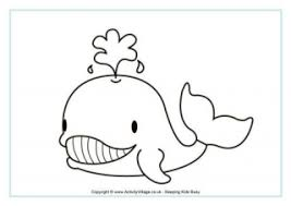Whales Colouring And Printables For Kids Whale Color Page