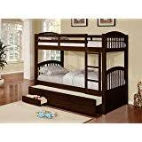 amazon com bunk bed twin over twin mission style in cappucino