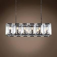 Crystal Glass Chandelier Restoration Revolution Harlow Crystal Rectangular 12 Light 40