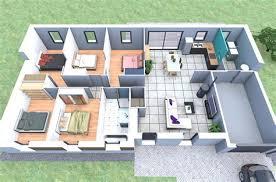 plan de maison plain pied 5 chambres ordinary maison de 100m2 plan 3 plan maison 130m2 plain pied