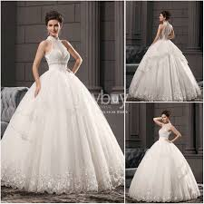 Halter Neck Wedding Dresses Turmec Halter High Neck Wedding Dresses