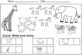 free number worksheets for kindergarten worksheets