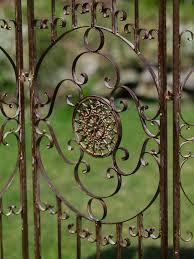 decorative screen antique style trellis wrought iron brown