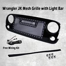 Jeep Wrangler Led Light Bar by Big Mouth Mesh Grill For U002707 U002717 Jeep Wrangler W 72w Cree Led