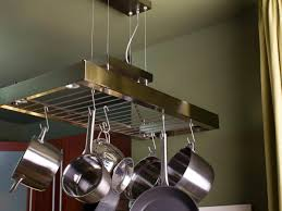 kitchen island pot rack lighting home design