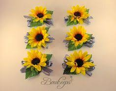 sunflower corsage of and of groom corsages smaller version 3
