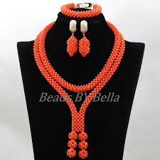 handmade bead necklace designs images 2017 new design handmade coral beads statement necklace set jpg