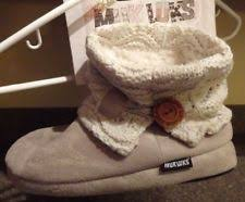 s knit boots size 12 ivory slippers for ebay