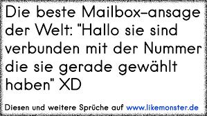 mailbox spr che die beste mailbox ansage der welt hallo sie sind verbunden mit