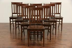 sold arts u0026 crafts style set of 8 vintage quarter sawn oak