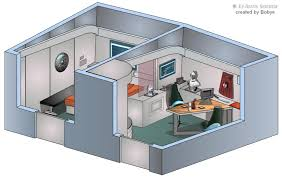 Star Trek Enterprise Floor Plans by Mr Scott U0027s Quarters U S S Enterprise Ncc 1701 Interiors