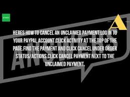 how can i cancel a payment on paypal youtube