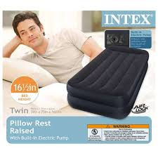 Intex Sofa Bed by Intex Twin Air Mattress With Built In Pump And Pillow 66705e