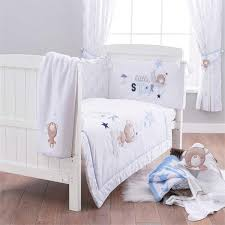 Uk Bedding Sets Silver Cloud 3 Pieces Cot Cot Bed Bedding Set