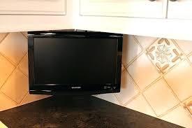 under cabinet tv mount swivel tv for kitchen under cabinet for kitchen with kitchen idea image 9