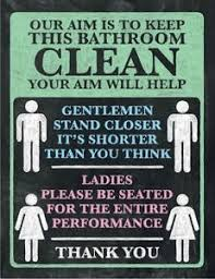 keep the bathroom clean toilet our aim is to keep the bathroom clean loo toilet metal plaque tin