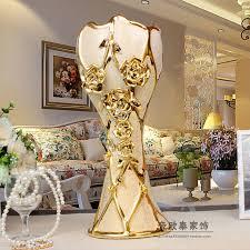 Home Decorations Wholesale European Ceramic Plating Floor Vase Home Decorations Ornaments