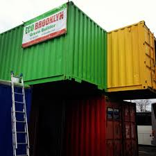 shipping containers as new york buildings eco brooklyn built this