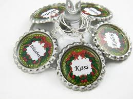 personalized party favors wine glass charms personalized party favors by paisleymarie on