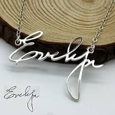 custom handwriting necklace personalized handwriting necklace handwriting jewelry