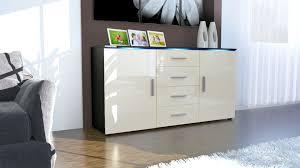 modern sideboard buffet server storage cabinet chest faro in black