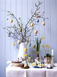 easter decoration easter decor centerpiece with bunnies and candles