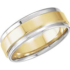two tone wedding rings gents two tone wedding ring moores jewellers