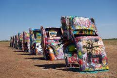 cadillac ranch carolina painted cadillacs in the desert stock photography image 28439542