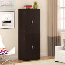 Bathroom Cabinet Shelf by Wood Storage Cabinet Ebay