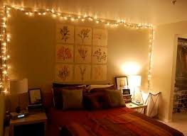 Lights In The Bedroom Frame Your Bedroom S Accent Wall In String Lights To Really Make