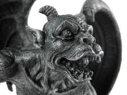 amazon com evil winged devil gargoyle statue sculpture by private