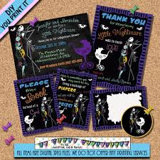 nightmare before christmas baby shower invitation package