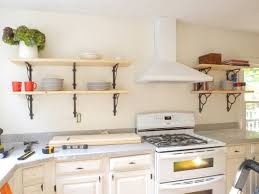 kitchen stunning diy open kitchen shelves shelf diy open kitchen
