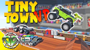 monster truck video game play tiny town vr monster truck jam vr htc vive gameplay youtube