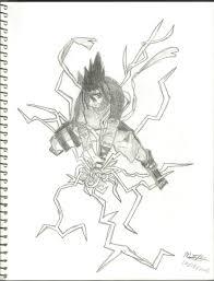 drawn naruto sasuke chidori drawing pencil and in color drawn