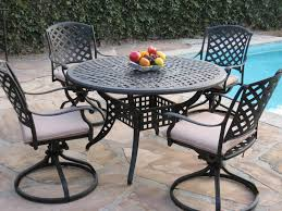Dining Room Table With Swivel Chairs by Amazon Com Kawaii Collection Cast Aluminum Outdoor Patio