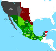 Baja Mexico Map by Mexico Geography Lessons Tes Teach