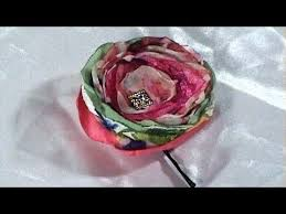 simple and charm fabric flower from scraps bobby pin tutorial