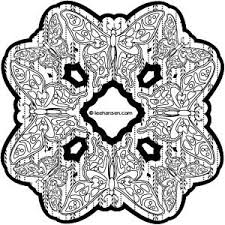 complex stained glass butterfly design coloring page printables
