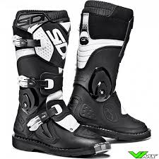 motocross boots sidi flame kids motocross boots black white v1mx