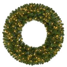 pre lit wreath home accents 36 in pre lit kingston artificial christmas