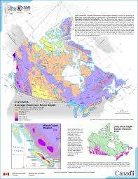 Snow Coverage Map Online Map Of Canada Snow Depth